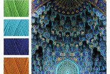 Horgolt színek
