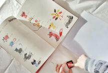dibujos con huellas