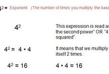 Exponents / Helpful Hints for working with exponents.