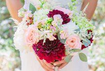 red - pink wedding