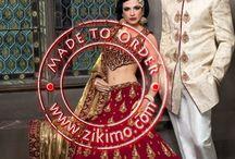 Bride-Groom Couple Lehenga Choli-Sherwani Dress