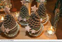 vanocni dekorace z sisek
