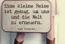 Traveler quotes - Reise Weisheiten & Zitate