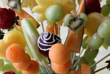 Verdura e frutta intagliata