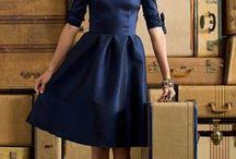 Navy blue Classic little dress