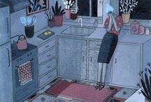 Illustration-Interiors