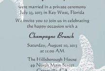 Wedding Invitations- Reception only