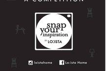 """contest """"Snap your inspiration"""" / Ayo ikutan kompetisi yang bertema """"Snap Your Inspiration"""" sekarang! caranya mudah loch! ambil foto ruangan kamu yang cocok dengan konsep kita yaitu MODERN LIVING LIFESTYLE!  pemenang akan dipilih setiap periode & berhak mendapatkan special gift dari Loista..."""
