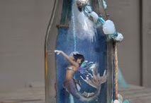 Mermaids craft in a bottle etc