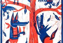 Screenprint illustrations