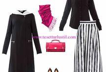 Tesettür Giyim Kombinleri / Yerli ve yabancı giyim markalarının ürünlerinden oluşan en güzel tesettür kombinler