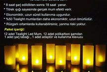 Horeca Şarjlı Led Tealight Mum