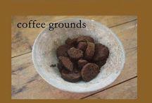 Coffe ground banana