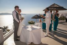 Karen and Jay's gorgeous Santorini Princess Hotel wedding / A selection of stunning photos taken from Karen and Jay's special day in Santorini.  Karen and Jay exchanged their vows at The Santorni Princess Hotel on the 7th of September 2014.