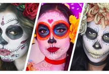 Halloween sugar skull face