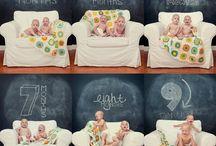 Crescimento do bebê em fotos