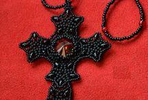 Perlen/Beads - Kreuz/Cross