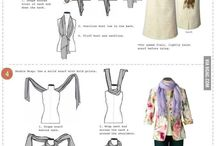Women scarfs and knots
