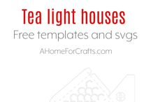tea light house templates