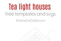 tea light house templates