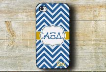 Alpha Xi Delta items / We offer monogrammed cases for the iPhone, iPod and others.  These make great big and little sister gifts !