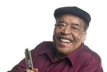 "James Cotton / Cotton is a key link on the chain of great blues harmonica players – Sonny Boy Williamson, Little Walter, Junior Wells. Sometimes he out-rocks the Rolling Stones."" – Chicago Tribune / by Lancaster Roots & Blues, A Festival of Music"