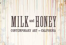 MILK & HONEY / Reference for a fictitious beauty shop brand design
