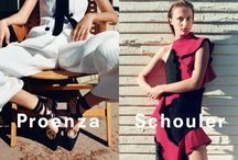 Spring 2016 Ad Campaign / Proenza Schouler Spring 2016 Ad Campaign photographed by Zoë Ghertner featuring Selena Forrest, Olympia Campbell and Nicole-Antonia Spagnola