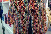 Champion garen / Mooie sjaals en truitjes gehaakt en gebreit met Champion garen .