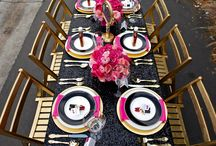 Black and Gold Inspiration / black and gold is a classic colour combination that never goes out of style and is perfect for so many parties. how about a black and gold design for your next party.