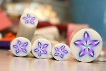 Polymer clay flower canes