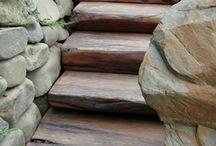 Escaleras de jardín