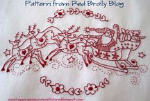 christmas * redwork/stitchery / by Kathy Boenig