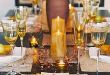 Thanksgiving Tablescapes / Gorgeous tables to inspire your Thanksgiving celebration! / by Andrea Freeman Events