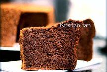 Chiffon chocolate cake