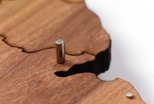 MapaWall Products / Laser cut magnetic and non-magnetic wooden world maps.