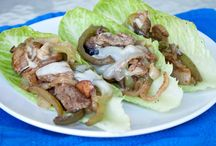 Chilly cheese steaks on lettuce boay