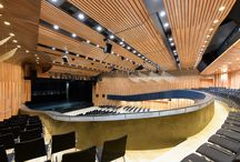 Auditorium, cinema, theatre interiors