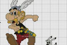 Vyšívání - Asterix a Obelix