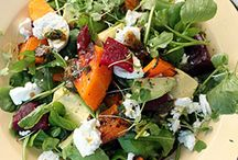 roasted butternut and beetroot salad