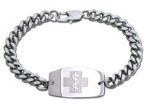 Stainless Steel Medical ID Bracelets / Durable & Attractive Stainless Steel Medical ID Bracelets