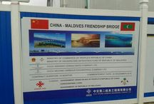 China Maldives Friendship Bridge / China Maldives Friendship Bridge is the very first bridge of Maldives linking the islands of Hulhule ( where Ibrahim Nasir International Airport is ) and Male' ( the capital city of Maldives )...It's developed and built by the Chinese company CCCC with aid from the Peoples Republic of China and a small contribution by the government of Maldives...The engineering and construction works is proceeding at a very fast pace...Allah Akbar...Allah is great... :)