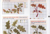 вышивка растения