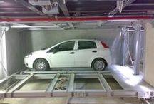 Multilevel car parking system / MONTAUTO I sistemi di parcheggio meccanizzato mediante montauto permettono di posizionare le auto in modo indipendente o dipendente, interrati o elevati, in modo da poter soddisfare tutte le esigenze dei clienti.