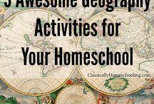 Geografía / Recursos para el estudio de la geografía en la educación el hogar. / Homeschooling resources to study Geography.   Homeschool | Educación en casa