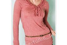 Eleganckie modne bluzeczki z długim rękawem