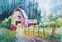 FA Landscape watercolour