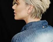 Shorter hair bob pixie