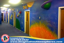 Space Themes / Space themes and murals for kids created by Imagination Atmospheres.