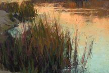 Rok 2015B / krajina akvarel